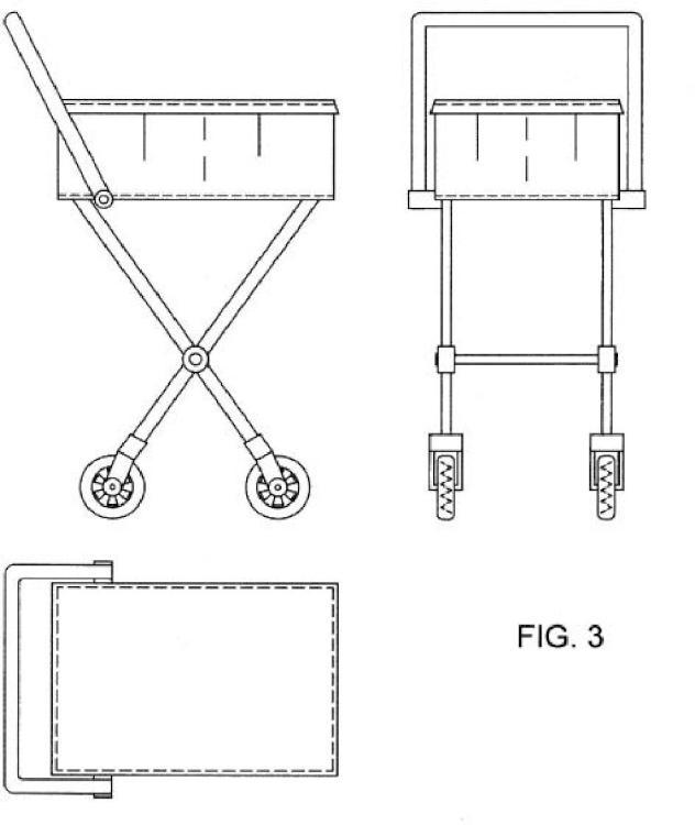 Carro de compra ergonómico horizontal.