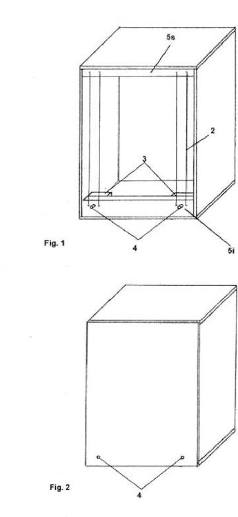 Sistema de tensión directa frontal para un cajón flamenco.