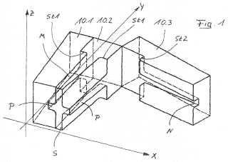 Indicador de desgaste en un sistema compuesto que comprende ladrillos cerámicos refractarios.