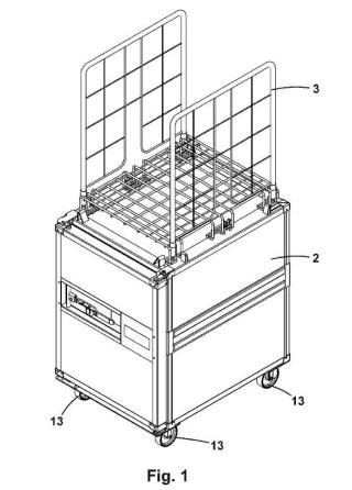 Conjunto modular de contenedores apilables.