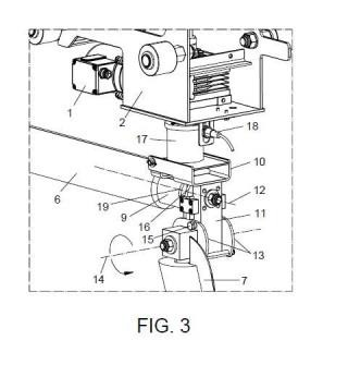 Dispositivo de articulación en máquinas lavacoches.