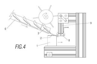 Máquina montadora en línea para el montaje de una tapa de protección en un envase.