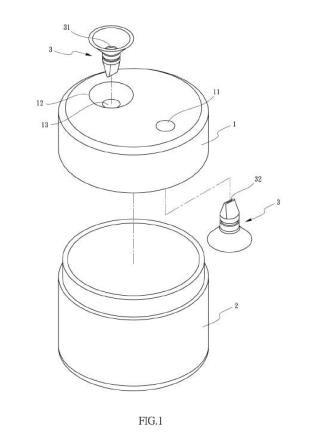 Estructura de tapa para un recipiente hermético.