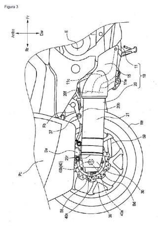Sistema de escape de vehículo del tipo motocicleta.
