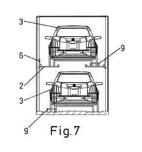 Contenedor para el transporte de vehículos automóviles.