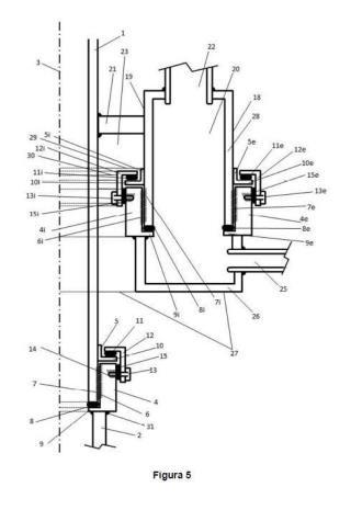Junta rotativa para ensamblar tubos fijos con tubos rotatorios.