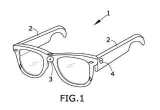 Sistema de lectura para invidentes y gafas necesarias para tal fin.