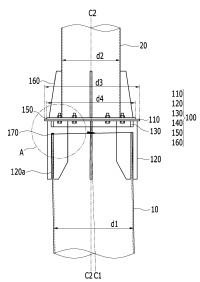 Empalme de tubo de acero y procedimiento para conectar un pilote de tubo de acero y una columna de tubo de acero usando el mismo.