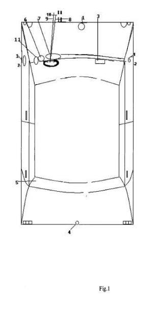 Pantalla visualizadora de los exteriores de los vehículos incorporada en la zona de mandos.