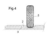 Dispositivo atenuador de velocidad de los vehículos que circulan por una calzada.