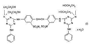 Compuestos de triazinilaminoestilbeno.