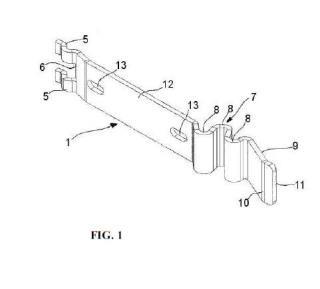 Pieza de unión para tramos de bandeja portacables de rejilla y tramo de bandeja portacables de rejilla.