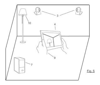 Sistema de determinación de la posición y orientación para un dispositivo portátil.