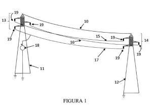 Reductor de las colisiones y electrocuciones de aves en las líneas eléctricas aéreas.