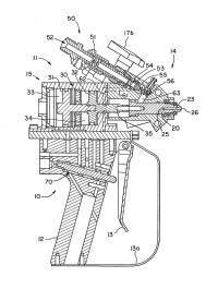 Aparato de dispensación de múltiples componentes operable con aire.
