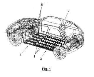 Sistema de montaje de baterías en vehículos eléctricos.