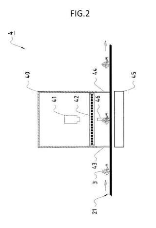 Procedimiento automático para determinar la compacidad de un racimo de uva en modo continuo, sobre una cinta transportadora sita en bodega.