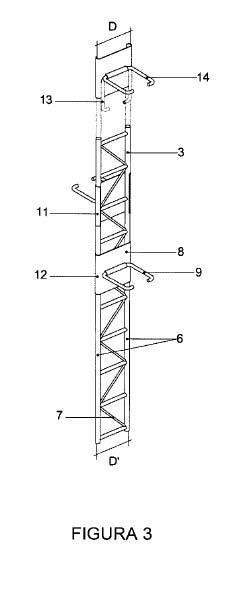 Junta para trabar muros de fábrica con distinta altura de hilada.