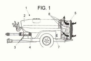 Turbina de pulverización oscilante para cabeza tractora.