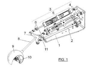 Dispositivo y método para la medición de corrientes de fluidos mediante mecanismo paralelo esférico actuado por fuerzas de arrastre.