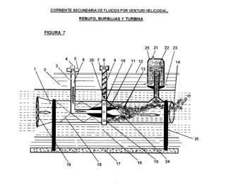 Sistema para establecer una corriente de fluido mediante succión en una corriente de agua, mejorado.