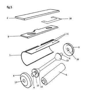 Cortador de film plástico con la cuchilla oculta para uso doméstico.