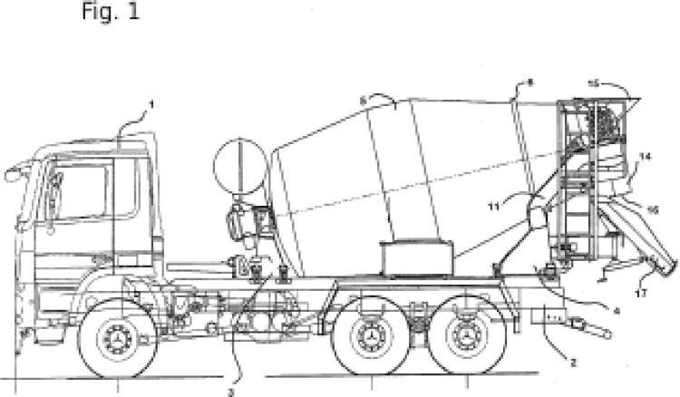 Camión mezclador para medios fluidos, especialmente hormigón.