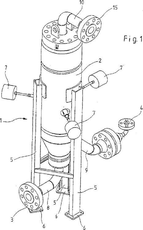Dispositivo para la mezcla continua con oxígeno de gas natural extraído para formar un gas combustible para un calentamiento del gas natural sometido a presión antes o después de su expansión.