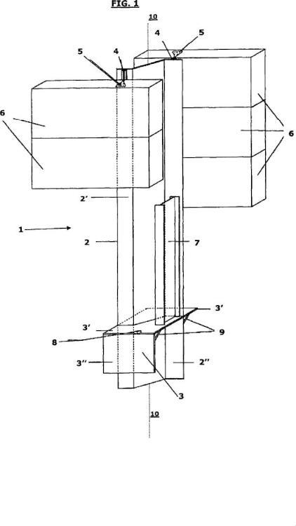 Barrera acústica en la que las partes de cimentación y el poste de elevación están realizados en un único elemento y método de montaje relativo.