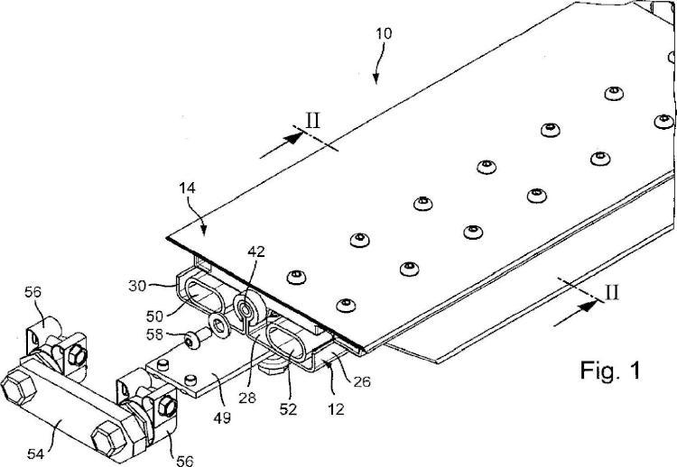 Dispositivo para la fijación de cuchillas de rasqueta.