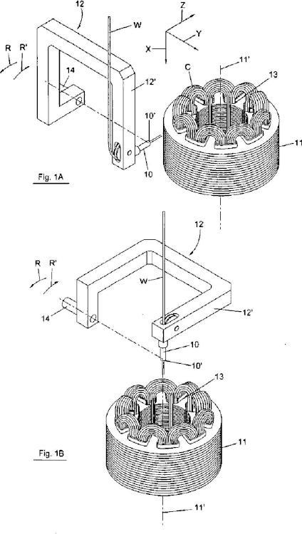 Aparato y método para enrollar y rematar núcleos de máquinas dinamoeléctricas.