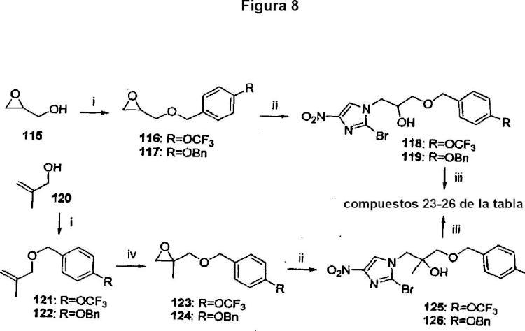 Análogos de nitroimidazooxazina y sus usos.