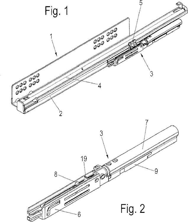 Dispositivo de apertura de una guía de extracción y guía de extracción.