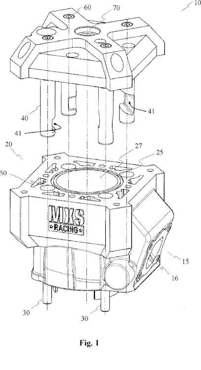 Dispositivo de fijación para motor de dos tiempos.