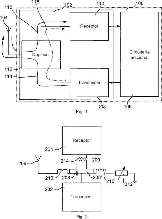 Transceptor sin duplexor y aparato de comunicación.