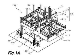 Máquina formadora de cajas y/o tapas de material laminar.