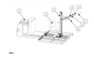 Máquina descargadora de perchas colgadas de barras.