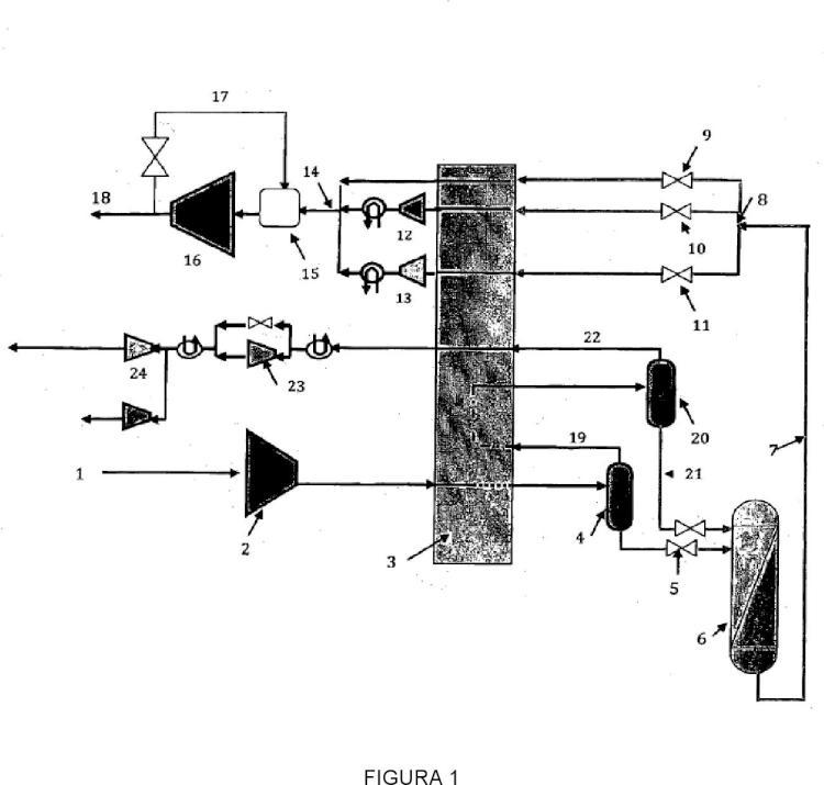 Proceso e instalación de purificación de un flujo gaseoso.