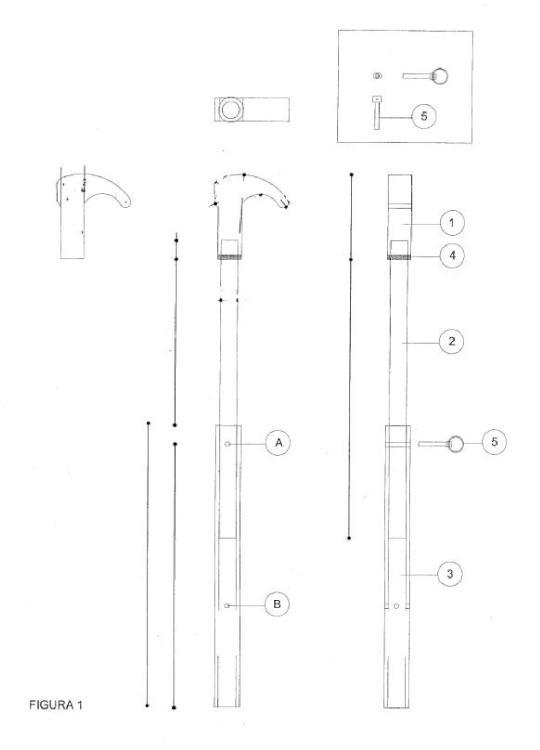 Llave extensible para la trinca y destrinca de contenedores.
