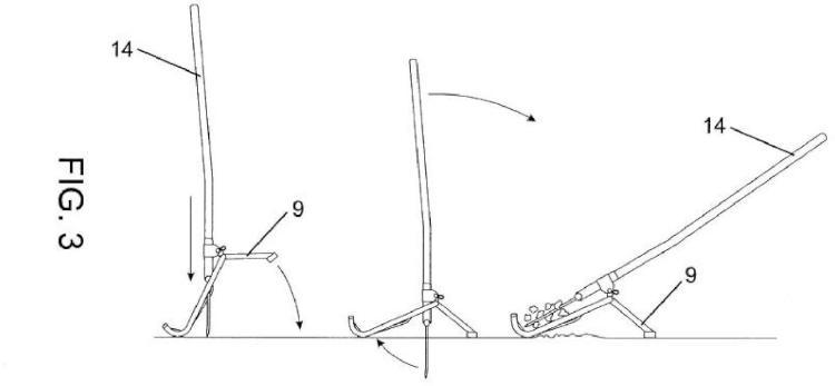 Arado manual ergonómico de doble peine desmontable.