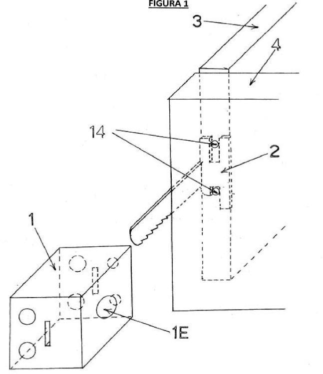 Ilustración 1 de la Galería de ilustraciones de Cerradura de cremallera desmontable para puertas y cajones de muebles