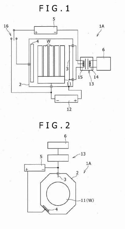 Dispositivo de tratamiento de bombardeo de iones, y método para la limpieza de la superficie del material base usando el dispositivo de tratamiento.