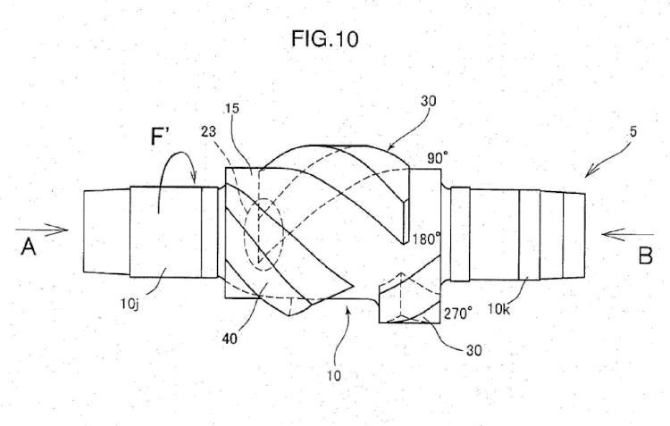 Rotor de amasado, y máquina amasadora cerrada que comprende un par de tales rotores.