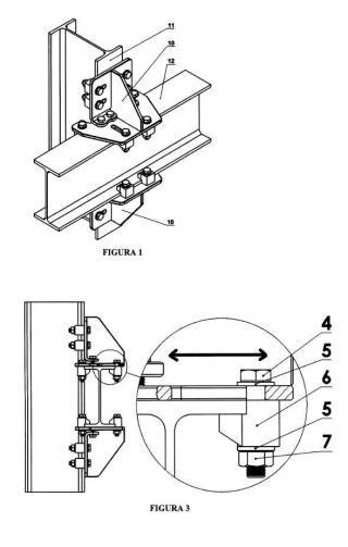 Sistema de unión lateral mediante bridas para perfiles en I ó H.