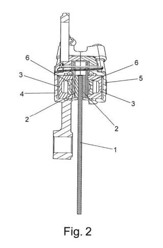 Sistema de separación de pastillas de freno para motocicletas.