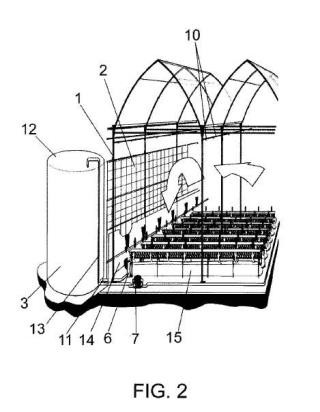 Sistema de climatización de invernaderos.