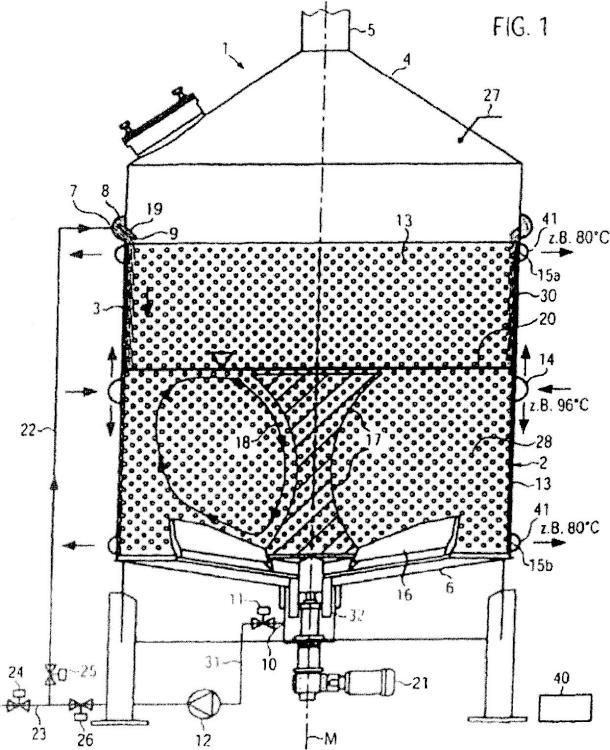 Procedimiento y dispositivo en particular para el macerado durante la elaboración de cerveza.