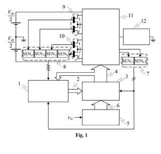 Sistema y método de medida de las tensiones de las disposiciones capacitivas de los sub-módulos de un convertidor de potencia multinivel con almacenamiento distribuido de energía (MMC) y convertidor MMC.