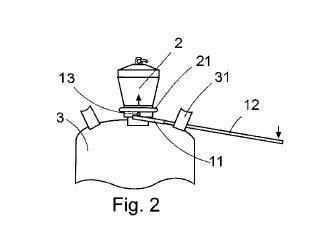 Utensilio para el acoplamiento y desacoplamiento de reguladores de gas en botellas de butano.