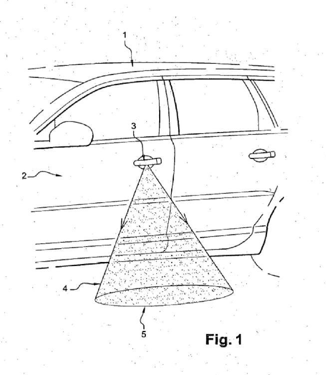 Manija iluminadora para vehículo automóvil.